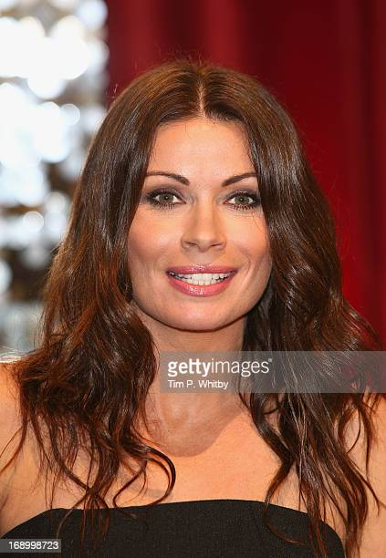 Actress Alison King attends the British Soap Awards at Media City on May 18 2013 in Manchester England