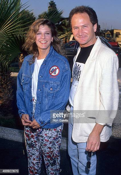 Actress Alison LaPlaca and actor Philip Charles MacKenzie attend the FOX Television Affiliates Party on July 11 1989 at the RitzCarlton Hotel in...