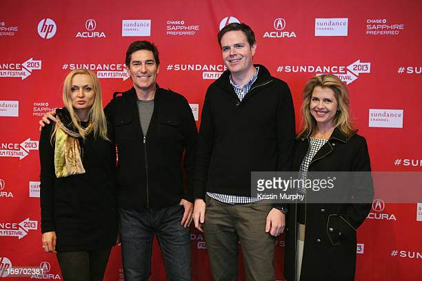 Actress Alison LeesTaylor Director Randy Moore and Actress Elena Schuber attend 'Escape From Tomorrow' Premiere during the 2013 Sundance Film...