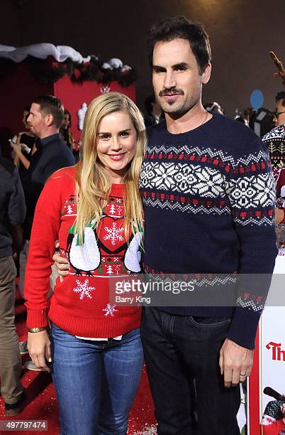 Actress Alison Lohman and actor Mark Neveldine attend Premiere Of Columbia Pictures' 'The Night Before' at The Theatre At The Ace Hotel on November...
