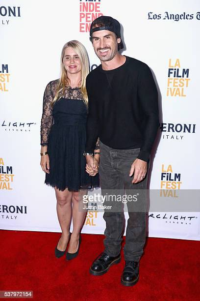 Actress Alison Lohman and director Mark Neveldine attend the premiere of 'Officer Downe' during the 2016 Los Angeles Film Festival at Arclight...