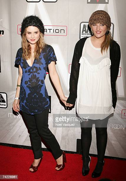 Actress Alison Lohman and guest attend the Maroon 5 Album Release Party at The Lot May 22 2007 in Los Angeles California