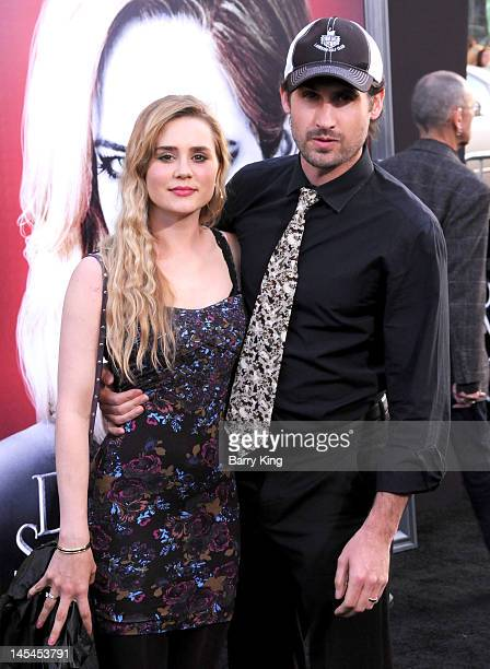 Actress Alison Lohman and Mark Neveldine arrives at the Los Angeles premiere of 'Dark Shadows' at Grauman's Chinese Theatre on May 7 2012 in...