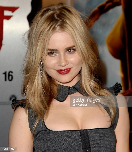 Actress Alison Lohman arrives at the Los Angeles Premiere 'Beowulf' at the Mann Village Theater on November 5 2007 in Westwood California