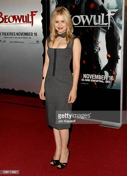 Actress Alison Lohman arrives at the Los Angeles Premiere Beowulf at the Mann Village Theater on November 5 2007 in Westwood California