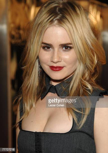 Actress Alison Lohman arrives at the Los Angeles Premiere of 'Beowulf' at Westwood Village on November 5 2007 in Weswood California