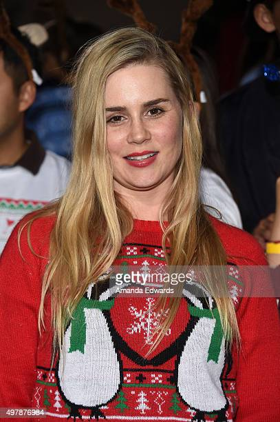 Actress Alison Lohman arrives at the premiere of Columbia Pictures' 'The Night Before' at The Theatre at The Ace Hotel on November 18 2015 in Los...
