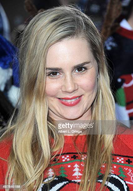 Actress Alison Lohman arrives for the Premiere Of Columbia Pictures' 'The Night Before' held at The Theatre At The Ace Hotel on November 18 2015 in...