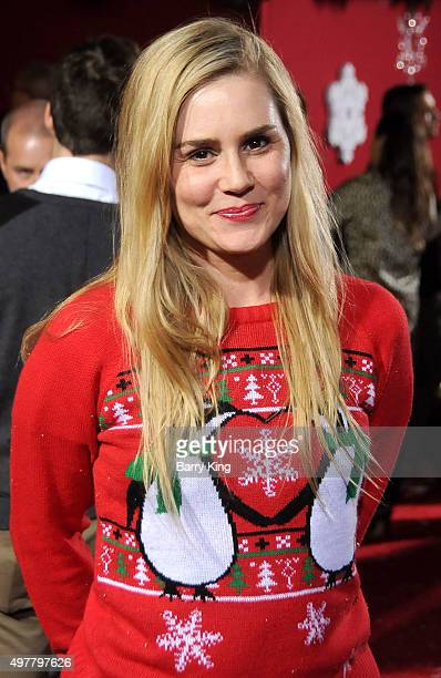 Actress Alison Lohman attends Premiere Of Columbia Pictures' 'The Night Before' at The Theatre At The Ace Hotel on November 18 2015 in Los Angeles...