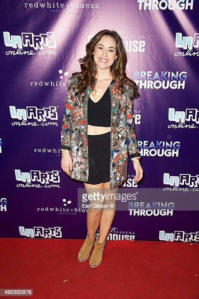 Actress Alison Luff poses for a photo at The Pasadena Playhouse Presents Opening Night of Breaking Through at Pasadena Playhouse on November 1 2015...