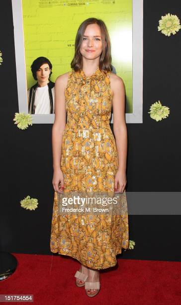 Actress Alison Miller attends the Premiere Of Summit Entertainment's 'The Perks Of Being A Wallflower' at the Arclight Cinerama Dome on September 10...