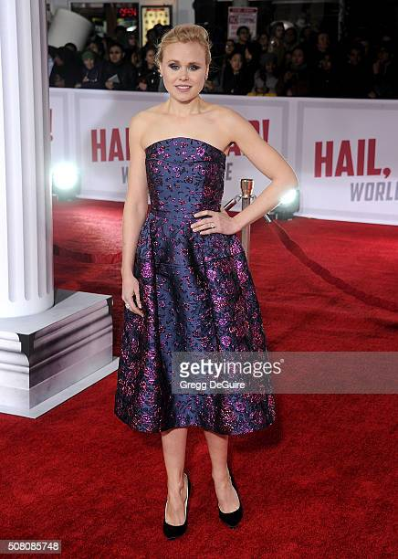 Actress Alison Pill arrives at the premiere of Universal Pictures' 'Hail Caesar' at Regency Village Theatre on February 1 2016 in Westwood California