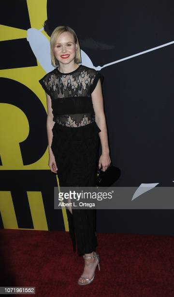 Actress Alison Pill arrives for Annapurna Pictures Gary Sanchez Productions And Plan B Entertainment's World Premiere Of 'Vice' held at AMPAS Samuel...
