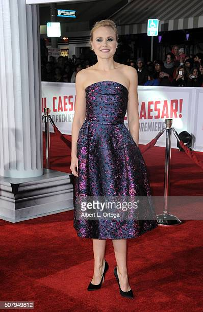 Actress Alison Pill arrives for the Premiere Of Universal Pictures' Hail Caesar held at Regency Village Theatre on February 1 2016 in Westwood...