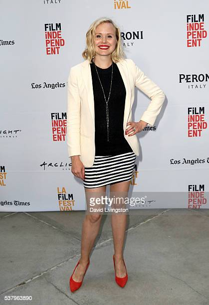 Actress Alison Pill attends the LA Film Festival premiere of Tangerine Entertainment's 'Paint It Black' at Bing Theater at LACMA on June 3 2016 in...