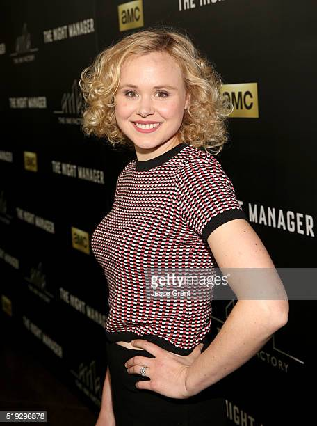 Actress Alison Pill attends the premiere of AMC's 'The Night Manager' at DGA Theater on April 5 2016 in Los Angeles California