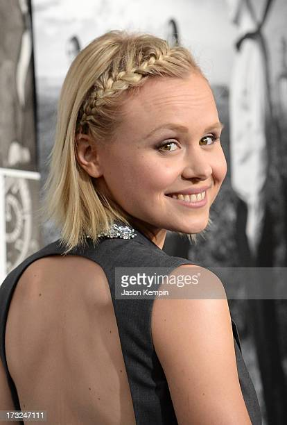 Actress Alison Pill attends the premiere of HBO's The Newsroom Season 2 at Paramount Theater on the Paramount Studios lot on July 10 2013 in...