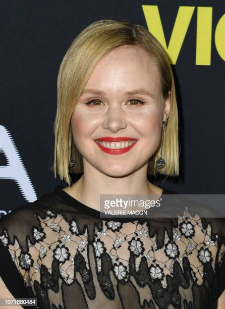 Actress Alison Pill attends the world premiere of 'Vice' at the AMPAS Samuel Goldwyn theatre in Beverly Hills on December 11 2018