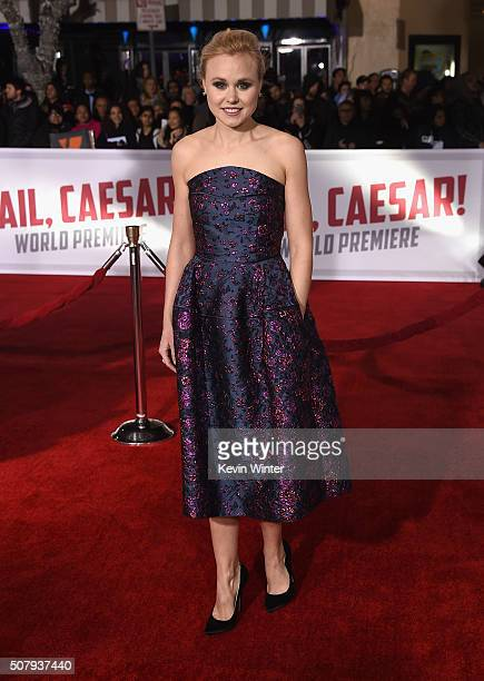 """Actress Alison Pill attends Universal Pictures' """"Hail, Caesar!"""" premiere at Regency Village Theatre on February 1, 2016 in Westwood, California."""
