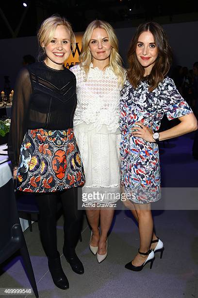 Actress' Alison Pill Jennifer Morrison and Alison Brie attend the IWC Schaffhausen Third Annual 'For the Love of Cinema' Gala during the Tribeca Film...