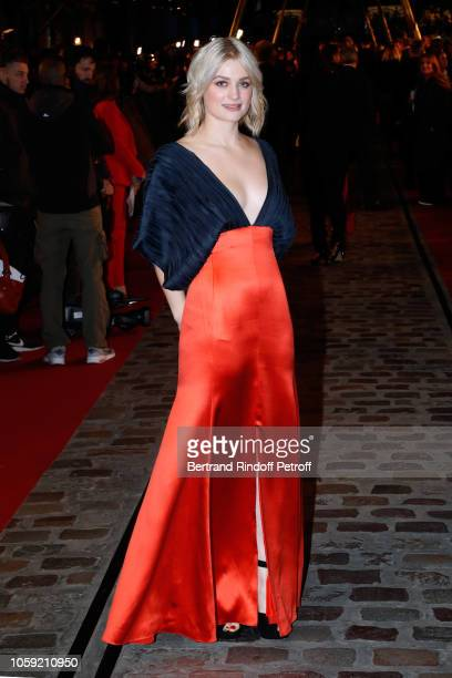Actress Alison Sudol attends the 'Fantastic Beasts The Crimes of Grindelwald' World Premiere at UGC Cine Cite Bercy on November 8 2018 in Paris France