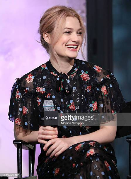 Actress Alison Sudol speaks at The Build Series Presents 'Fantastic Beasts And Where to Find Them' at AOL HQ on November 11 2016 in New York City