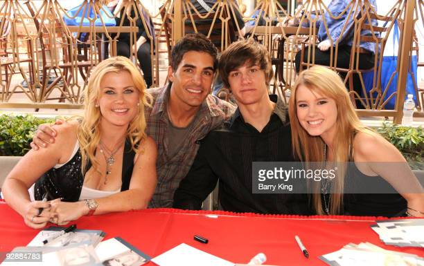 Actress Alison Sweeney actor Galen Gering actor Dylan Patton and actress Taylor Spreitler attend the Days of Days Fan Event for Days Of Our Lives...