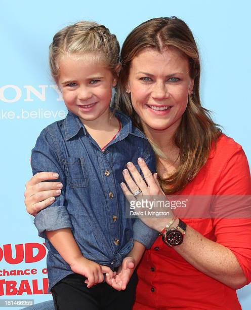 Actress Alison Sweeney and daughter Megan Sanov attend the premiere of Columbia Pictures and Sony Pictures Animation's Cloudy with a Chance of...