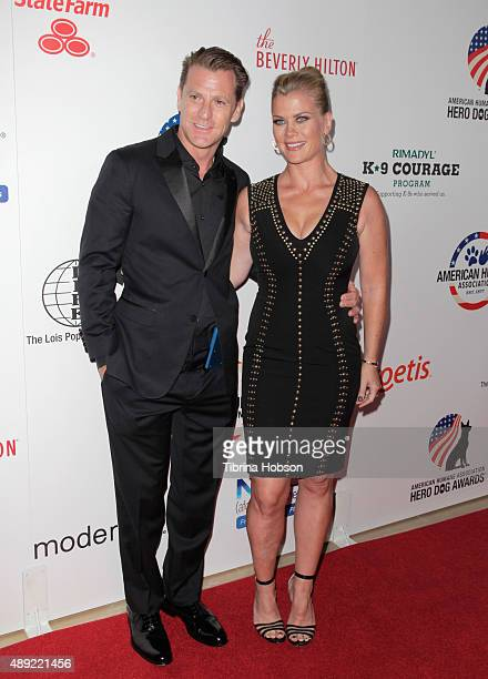 Actress Alison Sweeney and David Sanov attend the American Humane Association's 5th Annual Hero Dog Awards 2015 at The Beverly Hilton Hotel on...