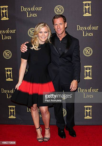 Actress Alison Sweeney and David Sanov attend the Days Of Our Lives 50th Anniversary at Hollywood Palladium on November 7 2015 in Los Angeles...
