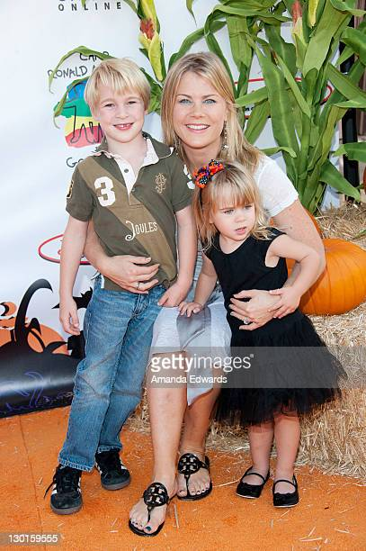 Actress Alison Sweeney and her children Benjamin and Megan arrive at Camp Ronald McDonald For Good Times' 19th Annual Halloween Carnival at Universal...