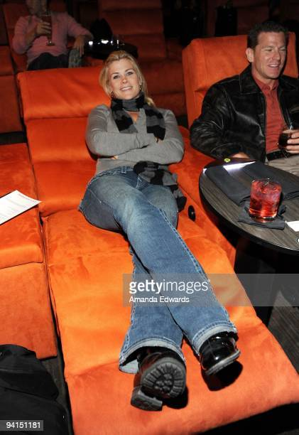 Actress Alison Sweeney and her husband Dave Sanov attend a private screening at the newly launched Gold Class Cinemas on December 6 2009 in Pasadena...