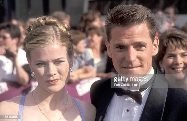 Actress Alison Sweeney and husband Dave Sanov attend the 26th Annual Daytime Emmy Awards on May 21 1999 at Madison Square Garden in New York City New...