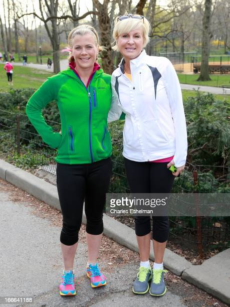 Actress Alison Sweeney and 'Morning Joe' Cohost Mika Brzezinski attend the 10th annual More Magazine/Fitness Magazine Women's Half Marathon at...