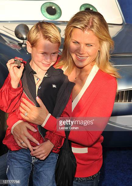 Actress Alison Sweeney and son Benjamin Edward Sanov attend the Cars 2 Los Angeles Premiere at the El Capitan Theatre on June 18 2011 in Hollywood...