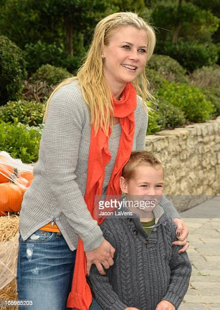 Actress Alison Sweeney and son Benjamin Sanov attend the Pottery Barn Kids Halloween Carnival benefiting Operation Smile on October 23 2010 in Los...