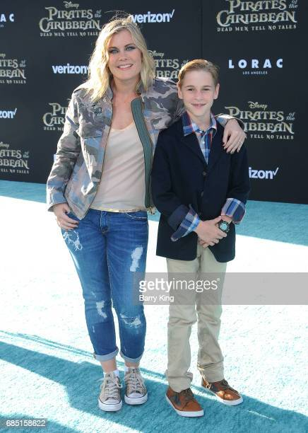 Actress Alison Sweeney and son Benjamin Sanov attend the premiere of Disney's 'Pirates Of The Caribbean Dead Men Tell No Tales' at Dolby Theatre on...