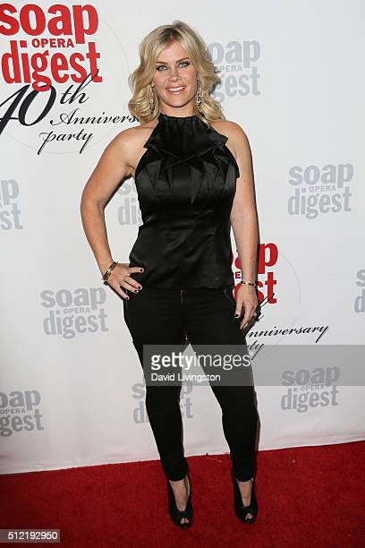 Actress Alison Sweeney arrives at the 40th Anniversary of the Soap Opera Digest at The Argyle on February 24 2016 in Hollywood California