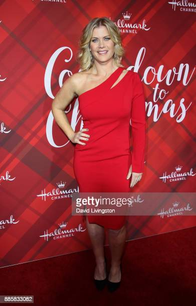 Actress Alison Sweeney attends a screening of Hallmark Channel's Christmas at Holly Lodge at The Grove on December 4 2017 in Los Angeles California