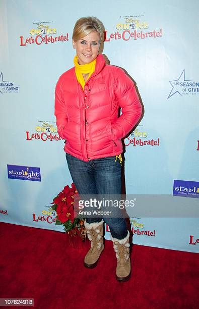 Actress Alison Sweeney attends AEG's Season of Giving Hosts Starlight Children's Foundation and Disney On Ice Event at LA LIVE on December 15 2010 in...
