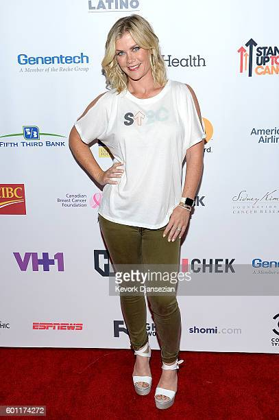 Actress Alison Sweeney attends Hollywood Unites for the 5th Biennial Stand Up To Cancer A Program of The Entertainment Industry Foundation at Walt...