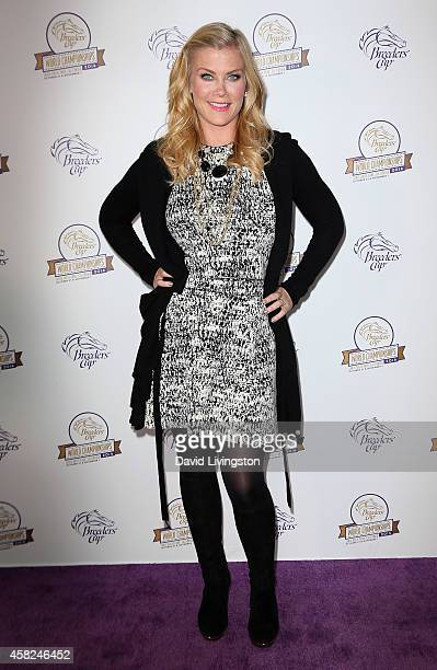 Actress Alison Sweeney attends the 2014 Breeders' Cup World Championships at Santa Anita Park on November 1 2014 in Arcadia California