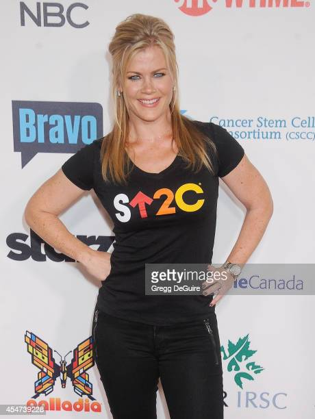 Actress Alison Sweeney attends the 4th Biennial Stand Up To Cancer A Program of The Entertainment Industry Foundation at Dolby Theatre on September 5...