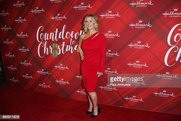 Actress Alison Sweeney attends the Hallmark Channel's Countdown To Christmas Celebration and VIP screening of Christmas At Holly Lodge at The Grove...