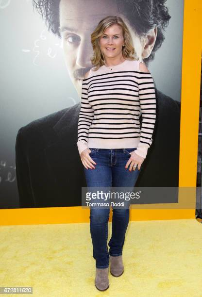 Actress Alison Sweeney attends the Los Angeles Premiere Screening of National Geographics 'Genius' the Fox Theater on April 24 2017 in Los Angeles...