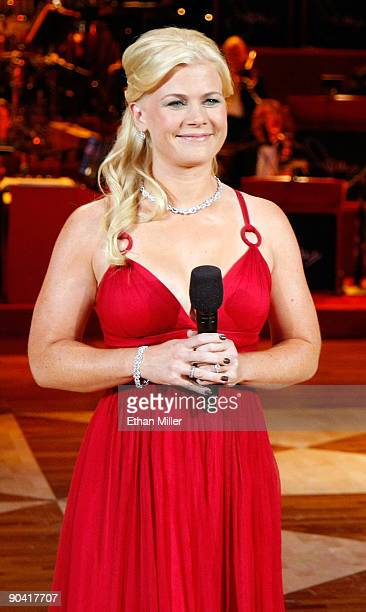 Actress Alison Sweeney cohosts the 44th annual Labor Day Telethon to benefit the Muscular Dystrophy Association at the South Point Hotel Casino...