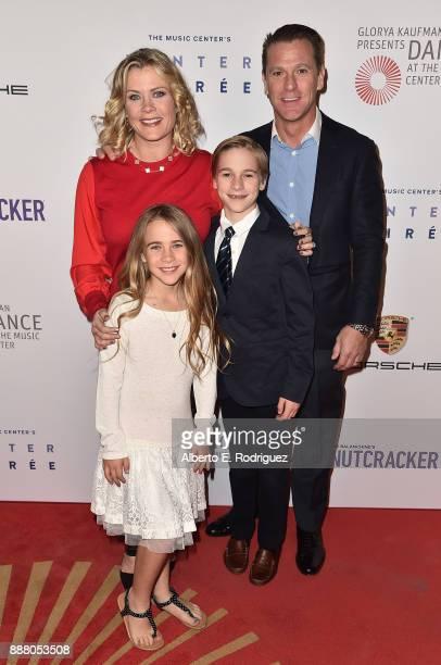 Actress Alison Sweeney Megan Sanov Benjamin Sanov and David Sanov attend the premiere of The New George Balanchine's The Nutcracker at The Dorothy...