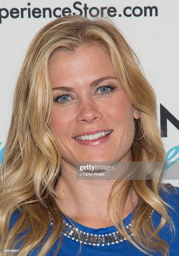Actress Alison Sweeney Signs Copies Of Her Book 'Scared Scriptless' at NBC Experience Store on June 3, 2014 in New York City.