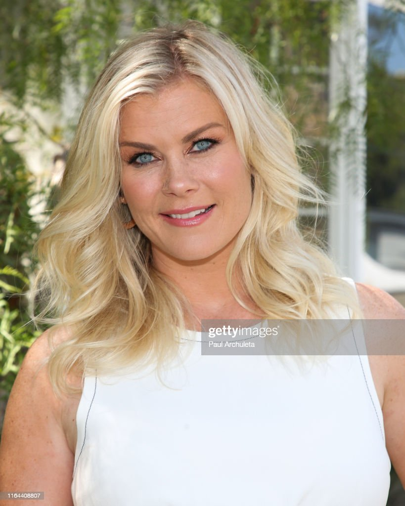 """Alison Sweeney Family Pictures actress alison sweeney visits hallmark's """"home & family"""" at"""