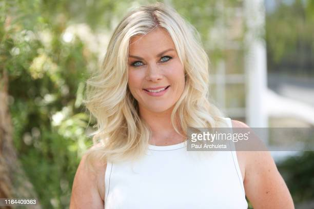 Actress Alison Sweeney visits Hallmark's Home Family at Universal Studios Hollywood on July 26 2019 in Universal City California